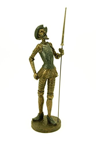 Resin Decorative Figure 'Don Quixote Planted With Spear'. 12 x 13 x 46 cm.