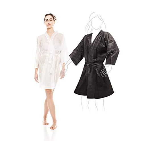 Kimonos Desechables Blanco 10 unidades + Kimono Negro