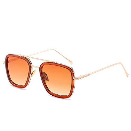 Yangjing-hl Gläser Pentagon Sonnenbrille Gezeiten Sonnenbrille Tee Rahmen Doppel Tee