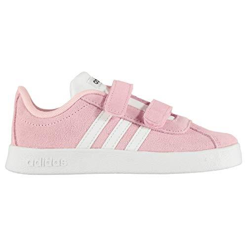 adidas Unisex-Kinder VL Court 2.0 Fitnessschuhe, Mehrfarbig (Rosaut/Ftwbla/Grisei 000), 25.5 EU - Jordan Jungen Schuhe Kleinkind
