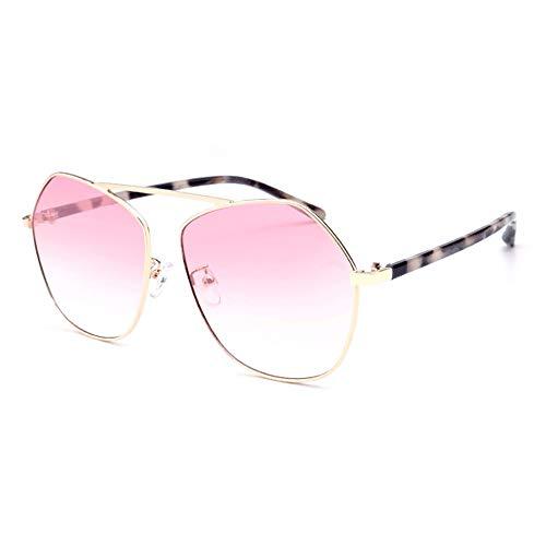 FURUDONGHAI Polygonale Grenze Persönlichkeit Mode Sonnenbrillen farbigen Verlaufsglas Brille UV400 Schutz Leopard Brille Beine Unisex besonders geeignet für sommerreisen oder Outdoor s