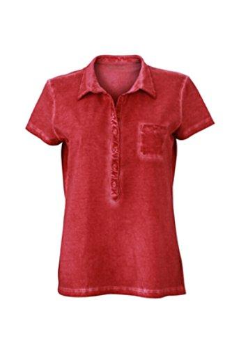 JAMES & NICHOLSON Trendiges Polo in modischem Look Red