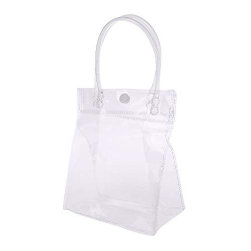 huwaioury Klar Einkaufstasche PVC Transparant Handtasche Mit Griff Snap Hochzeit Bevorzugungen Make-Up Geschenk Taschen