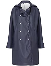 66° North Iceland abrigo de lluvia Mujer lauga vegur Rain Coat, color Mystic Blue, tamaño L