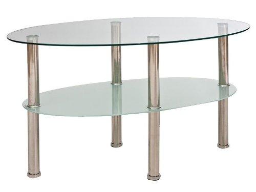 Jadella Glastisch Leo A Couchtisch Beistelltisch Tisch Milchglas Wohnzimmertisch Sofatisch