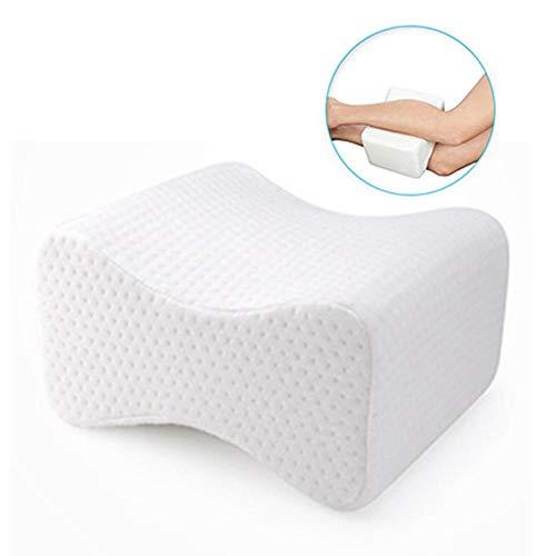 Augproveshak Kniekissen für Bein, Hüfte, Rücken, Knieschmerzen, Side-Sleepers-Schwangerschaft, komfortable Memory-Foam-Kissen mit abwaschbarem Bezug