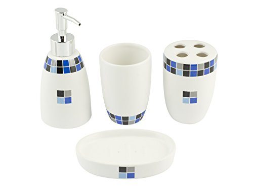 Home Lilly Set da Bagno, Ceramica,
