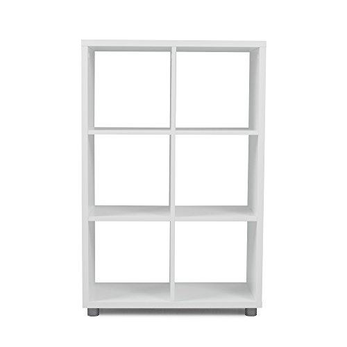 Preisvergleich Produktbild Tenzo 1826-059 Box Designer Raumteiler 2 x 3 Holz,  weiß,  35 x 73 x 111 cm