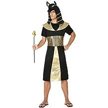Atosa - Disfraz faraón egipcio, color negro, M-L (17199)