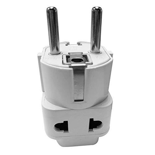 Weiß Small Compact und Lightweight EU Standard Power Plug Adapter Konverter Australien UK USA EU Konverter Großhandel - Weiß Compact Power Adapter