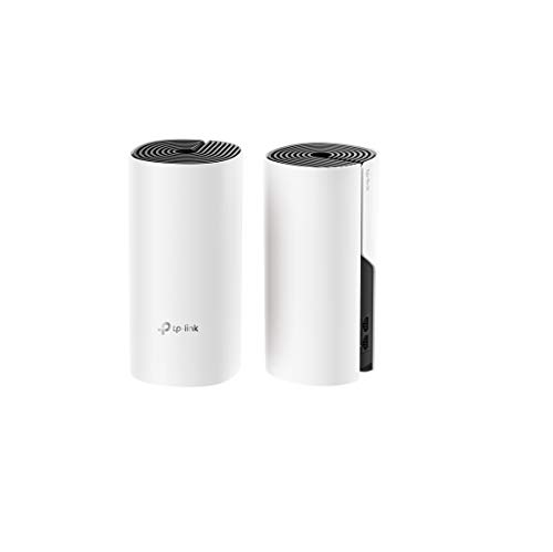 TP-LINK Deco Repetidor de wifi con Super Mesh wifi inteligente sin interrupción AC1200 Dual-Band hasta 260m² 2 Gigabit, hasta 100 dispositivos, ideal para xiaomi Mi Box, Amazon Alexa e IFTTT(M4-2Pack)