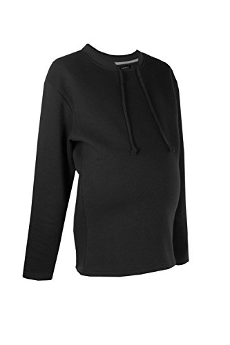 Noir Femmes Maternity Leah Super Soft Oversized Sweat Noir