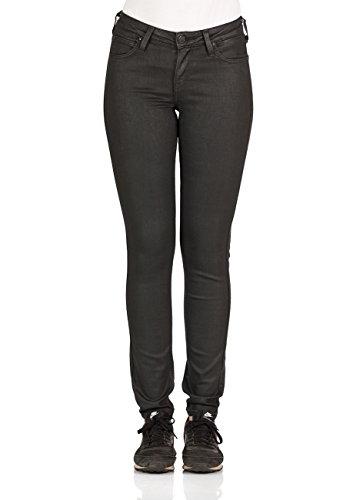 Lee Damen Jeans Scarlett - Skinny Fit - Schwarz - Coated Black, Größe:W 31 L 31, Farbe:Coated Black (LH) - Lee Wrangler-jeans