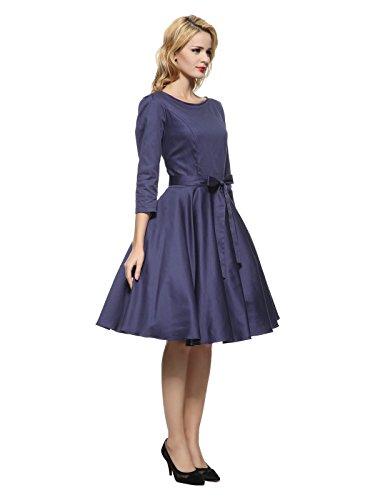 Maggie Tang Femmes Robe tulle 1950s Vintage Bleu - Bleu