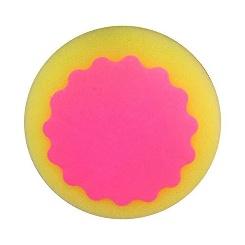 Eternali Rosenroter runder magischer Haarentfernungsschwamm Haarentfernungsschwamm, Effektive Magische Schmerzlose Enthaarung Schwamm Haarentferner Werkzeug (Hot Pink)