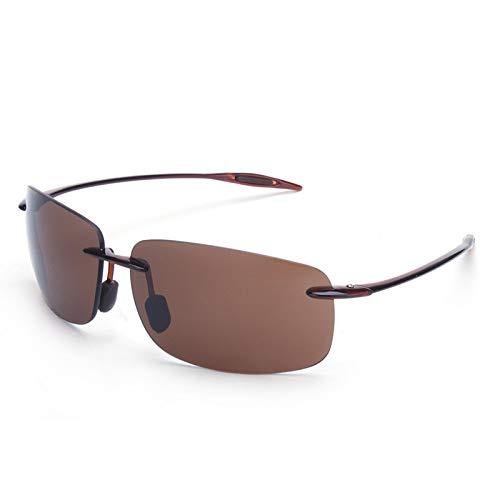 LKVNHP Neue Art UndWeise DerQualitäts -9G Nylon Polarisierte Herren Sonnenbrille Tac Mirrored Polaroid -Sonnenbrillen Man Tr90 Driving Brillen Ultra-Light Hd -ObjektivBrown