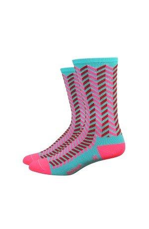 Defeet AIRTVIBENFP101 Aireator Barnstormer Socken, klein, Neptun/Flamingo Pink -