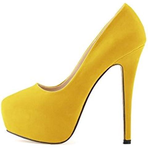 OCHENTA Mujer de la plataforma del tal¨®n talones terciopelo Cuzhen zapatos c¨®modos para caminar fiesta de