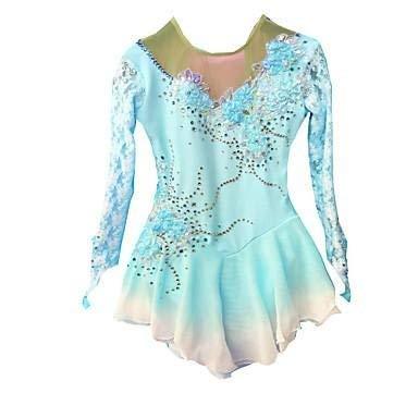 Eeayyygch Kleid Skating Kleid Frauen Eislaufen Kleid Pale Pink Light Sky Blue Spandex Hohe Elastizität Klassische Mode Performance, 6 (Farbe : -, Größe : -)