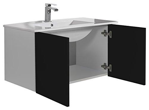 Aleghe eris–mobile da bagno, colore: nero lucido