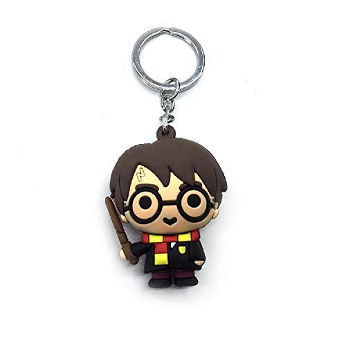 (Harry Potter 3 D Schlüsselanhänger - Mehrfarbig - Zauberstab ❤️ - NS 501992)