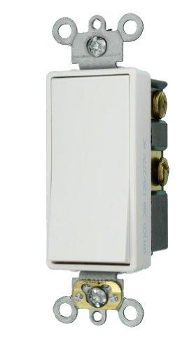 Leviton 5624-2W 20-Amp 120/277-Volt Decora Plus Rocker 4-Way AC Quiet Switch, White by Leviton -