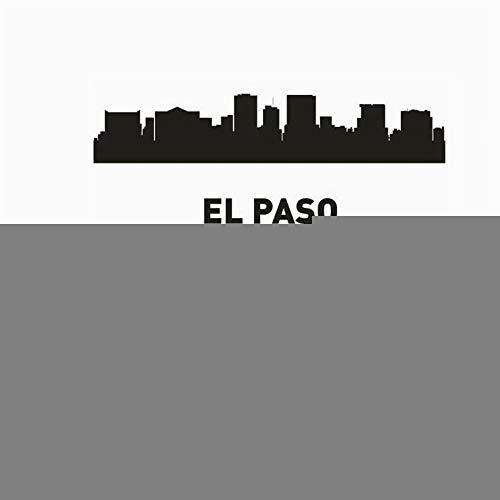 Wandaufkleber Schlafzimmer El Paso Stadt Aufkleber Wahrzeichen Skyline Sketch Decals Poster Home Decor Aufkleber für Wohnzimmer