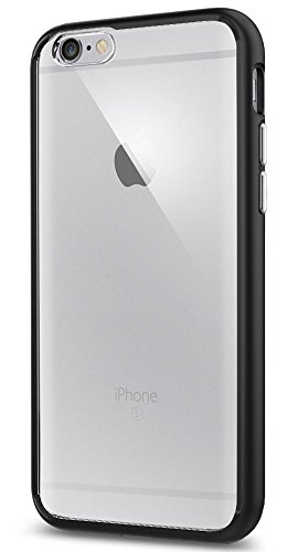Coque iPhone 6, Spigen® [Dual Layer] Coque iPhone 6 / 6s [Ultra Hybrid] AIR CUSHION [Black] Clear back panel + TPU bumper Coque Pour iPhone 6 (2014) / 6s (2015) - Black (SGP11600)