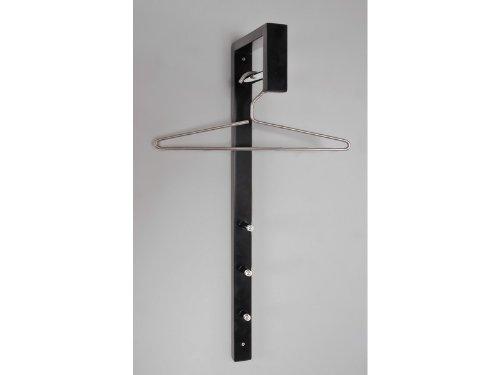 HAKU Möbel 89545 Wandgarderobe 4 x 20 x 70 cm, chrom  schwarz