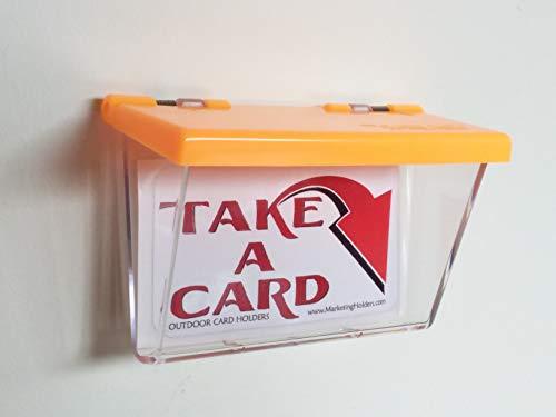 Fahrzeug Visitenkarten Halter Für Außenbereich Transparent Mit Orangenem Deckel