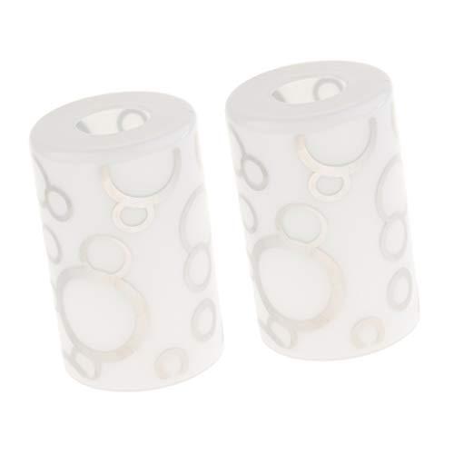 joyMerit 2 Stücke Glasschirm Gerade Zylinder Glas Lampenschirm Ersatz (# 1)