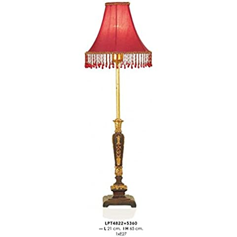 Casa Padrino Baroque Table Lamp Red / Gold 21 x