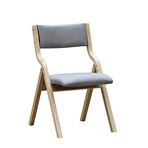 Esszimmerstühle YXX Living Dining Room Gepolsterter Seitenstuhl mit Holzbeinen, Klappbare...