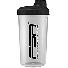 Shaker per Proteine 700 ml del marchio sportivo professionale FSA Nutrition con scala di misurazione e tappo a vite, per…