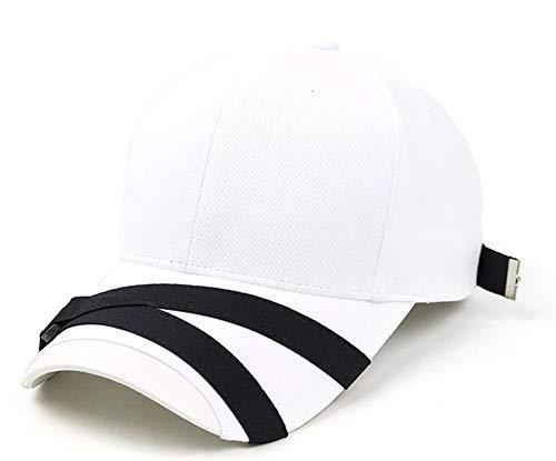 POPKORS Teamlife Max Cool Air Ventilation Mesh Back Performance Sport Outdoor Baseball Cap Hat für Herren und Damen, Herren, weiß, Adjustable, Free Size, One Size -