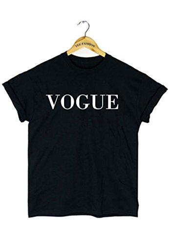 vogue-herren-damen-man-women-cotton-schwarz-fashion-t-shirt-top