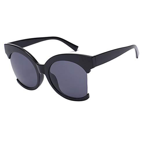 Yiph-Sunglass Sonnenbrillen Mode UV-Schutz-Sonnenbrille mit klarem Rahmen und unisexem Rahmen (Farbe : Schwarz)
