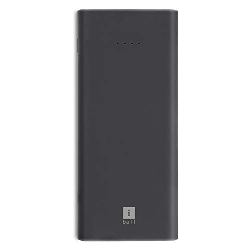 iBall 10000mAh Li-Polymer Slim Design Smart Charge Powerbank - LPS 10000 (Grey)