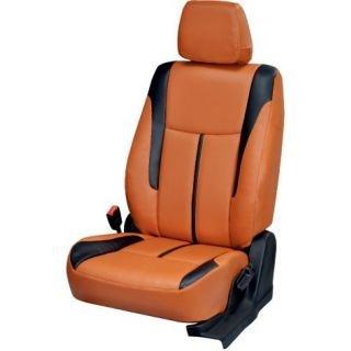 Bhati Car Seat Cover Orange Bucket Sports for Mahindra KUV 100 6 Seater (2015-2017)