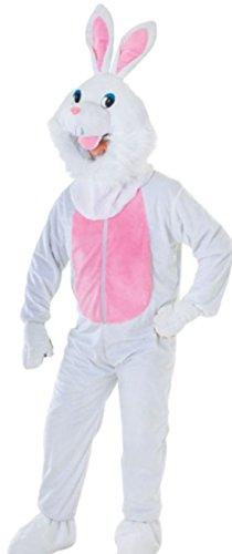 (Fancy Ole - Herren Männer Hasen Maskottchen Kostüm, Karneval, M-XL, Weiß)