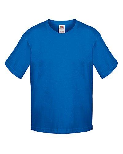 Fruit of the Loom KIDS Sofspun T-Shirt Blau - Königsblau