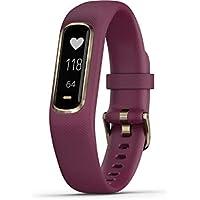 Garmin Small/Medium vivosmart 4 Smart Activity Tracker with Wrist-Based Heart Rate and Fitness Monitoring Tools- Berry