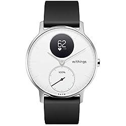 Withings / Nokia Steel HR Hybrid - Reloj, Unisex Adulto, Plateado (Silver), Blanco /Negro, 36mm