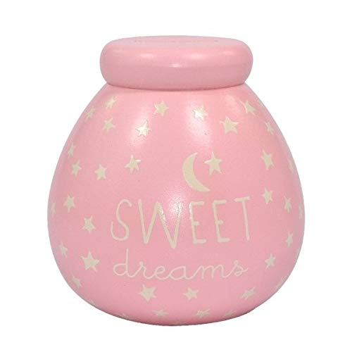Glow In The Dark Small Pink Sweet Dreams Pots of Dreams Money Pot New Baby Gift