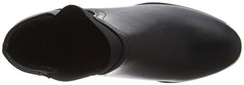 New Look Damen Wide Foot Detal Donnie Kurzschaft Stiefel Black (01/Black)