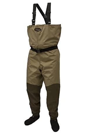 Frogg Toggs Canyon Taslan Breathable Stockingfoot Wader, X-Large, Khaki/Stone