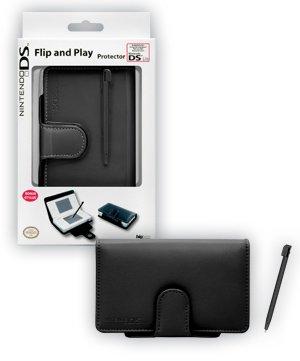 BigBen Interactive bb267143Black Flip & Play Protector + Stylus, Zubehörset für Nintendo DS