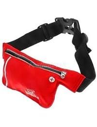 Alcoa Prime Unisex Ultrathin Outdoor Running Waist Bag Sports Pockets Bag -Red
