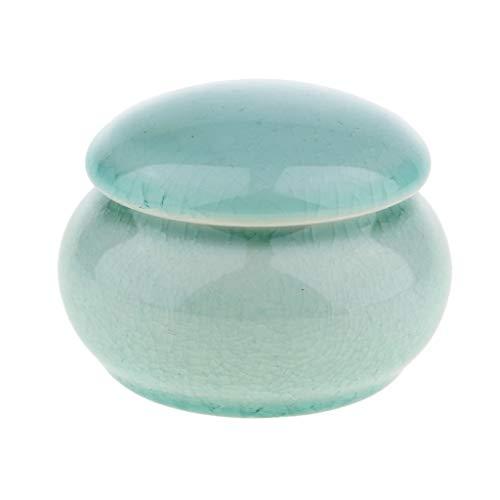 SeaStart Chinesische Keramik Zuckerdose Kaffeedose Teedose Porzellan Dose mit Deckel, Pastellgrün -