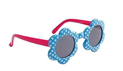 Flower Baby Girl Sunglasses UV400 Protection Age 0-4 years (Blue)
